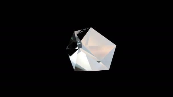 Rotierender Diamantkristall
