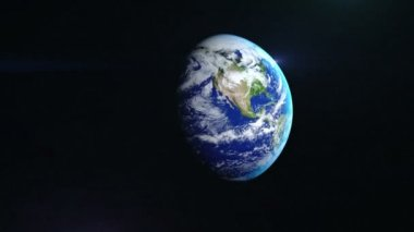 realistic earth rotating