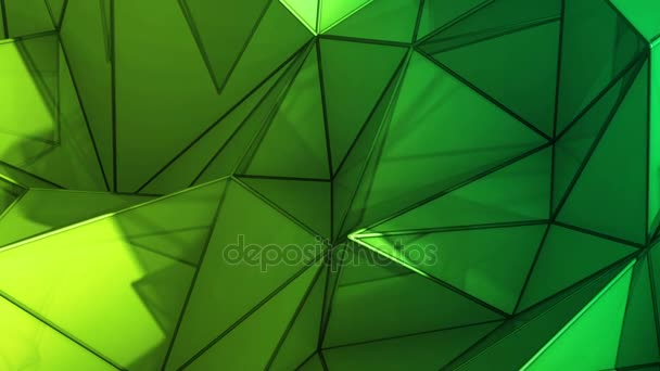Polygonal abstract surface. Semless loop 3D render