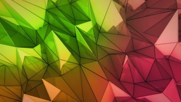polygonale abstrakte Oberfläche. semless loop 3D render