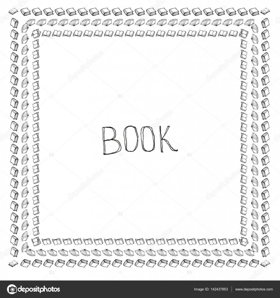 Buch-Doodle-frame — Stockvektor © lolya1988 #142437853