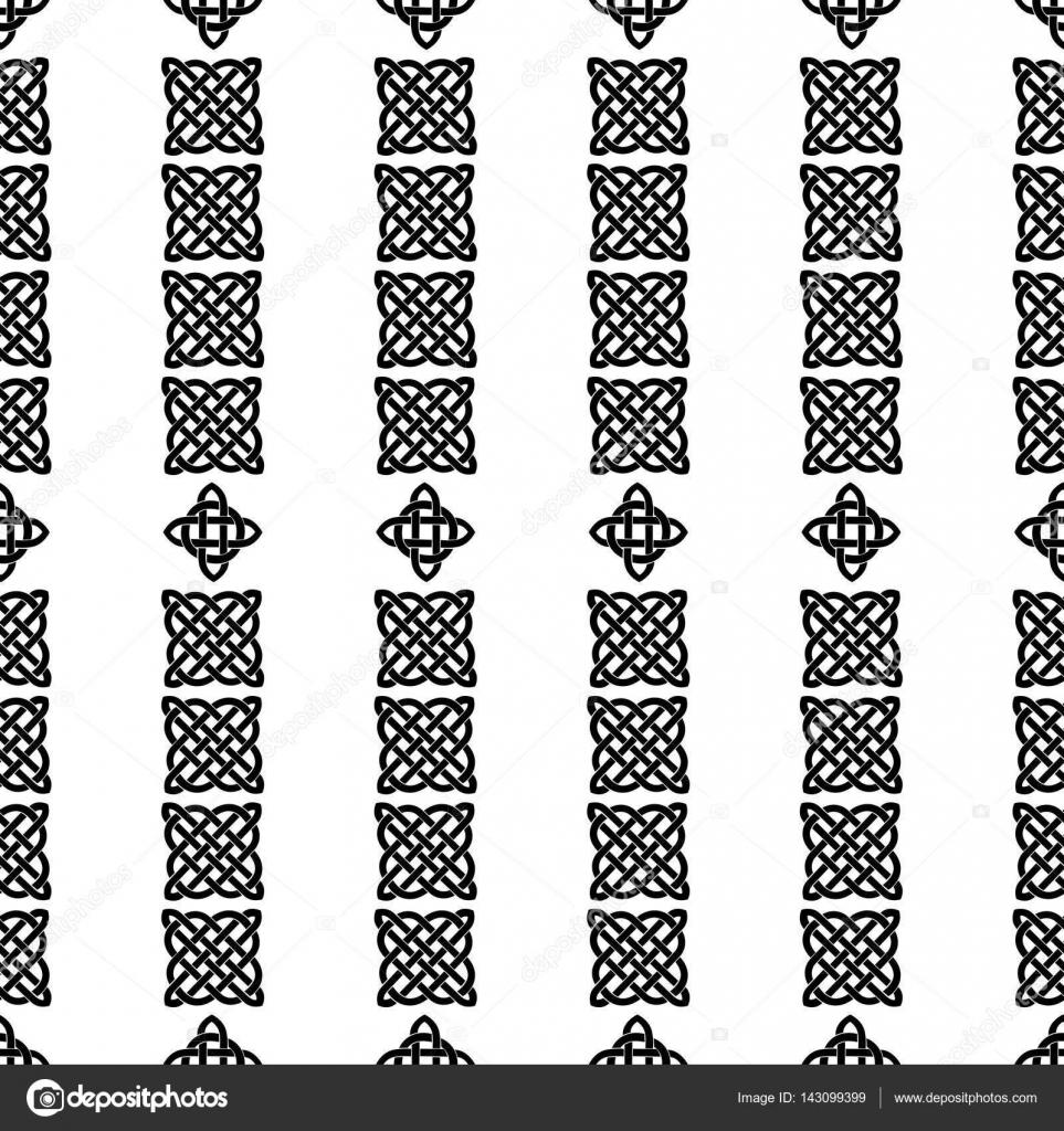 patrón sin costuras nudo celta — Archivo Imágenes Vectoriales ...