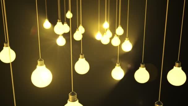 Glühbirnen. 3D-Animation