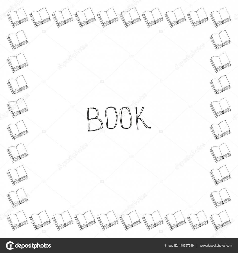 Marco de libro doodle — Vector de stock © lolya1988 #148797549