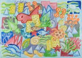 Podvodní svět abstraktní malířství