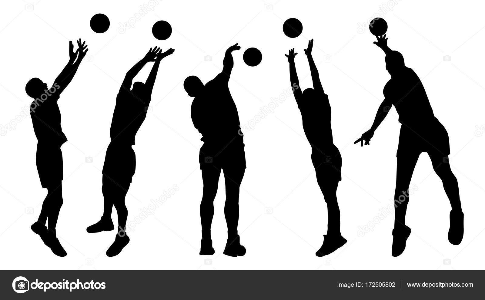 男子バレーボール選手 \u2014 ストックベクター © edvard76 172505802