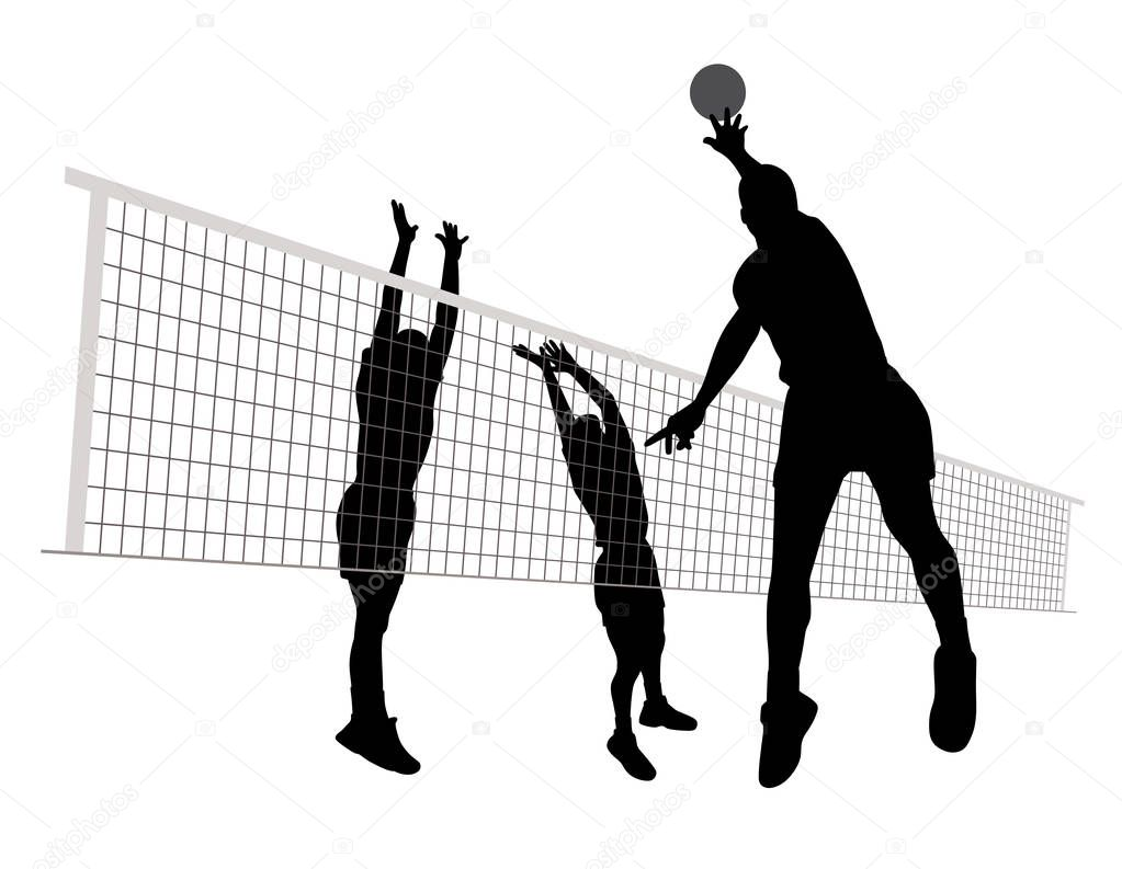 Illustration Abstract Volleyball Player Silhouette: Stock Vektor © Edvard76 #177431360