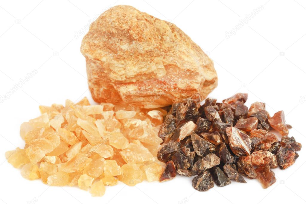 Frankincense dhoop, a natural aromatic resin
