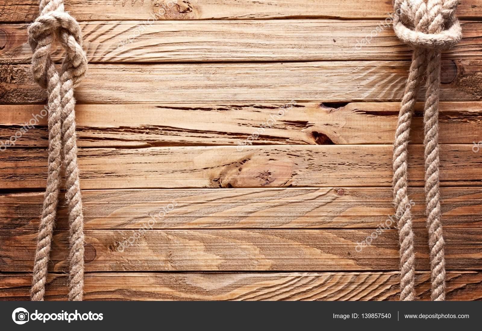Foto de textura de tablas de madera con cuerda de barco - Fotos en madera ...