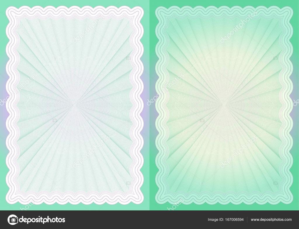 Zertifikat-Papier-Vorlage — Stockvektor © ivn3da #167006594