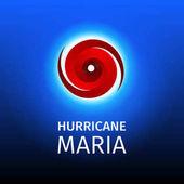 Grafický banner hurikánu Maria
