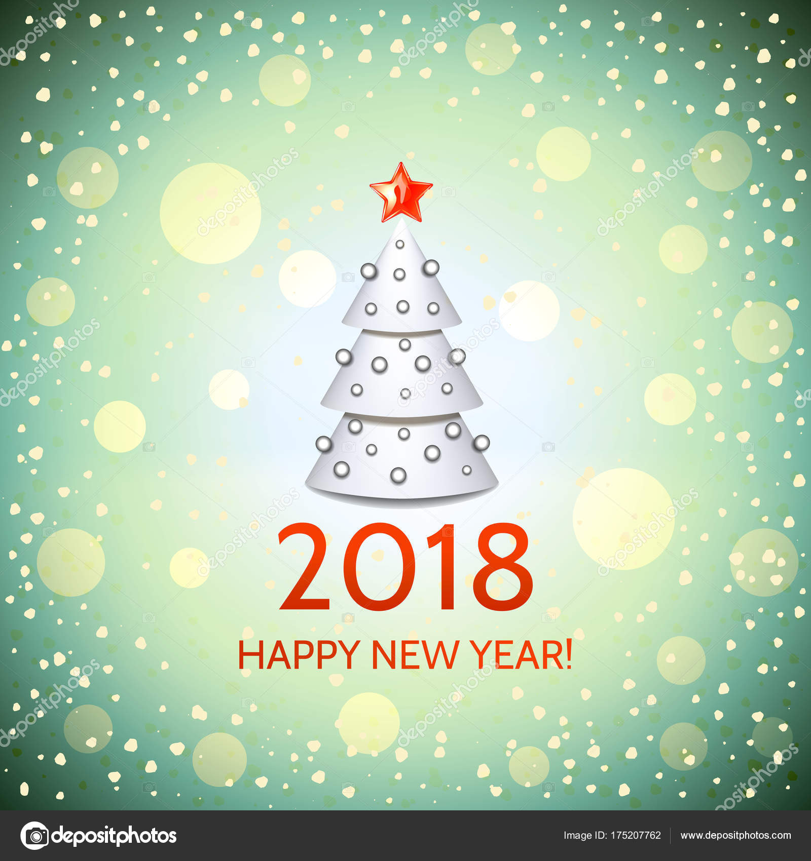 new year background with elegant christmas tree stock vector 175207762