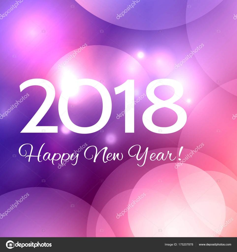 Fondo hermoso feliz año nuevo 2018 — Archivo Imágenes Vectoriales ... b15512004645
