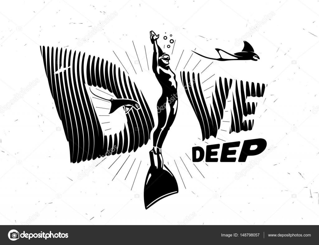 6950603ff17 Dive deep znak — Stock Vektor © archetype  148798057