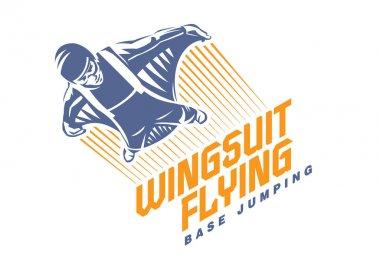 Wingsuit flying. Sport emblem