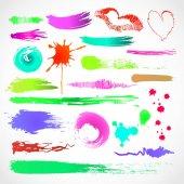 Výstřední design barevné prvky. vektor