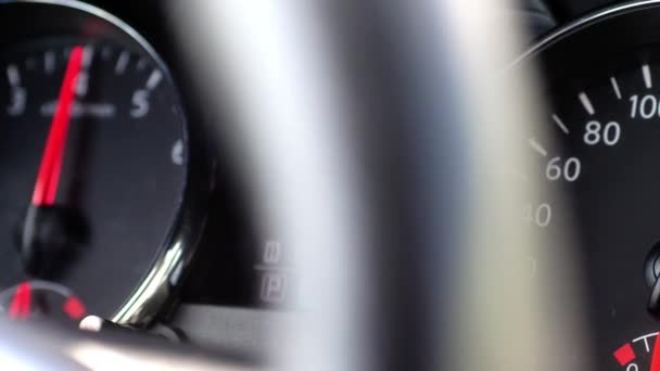 Car Speedometer And Moving Pointer On It Maximum Speed 3840x2160