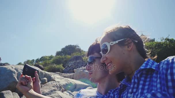 De Pareja Sol Selfie Retrato Montaña Bonita Tomando Por Con Gafas c35RS4jLqA