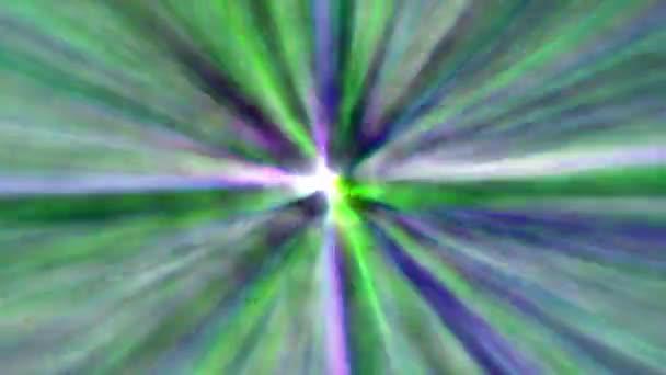 Animované barevné modré a zelené čáry pruhů praskla pohybu pozadí abstraktní