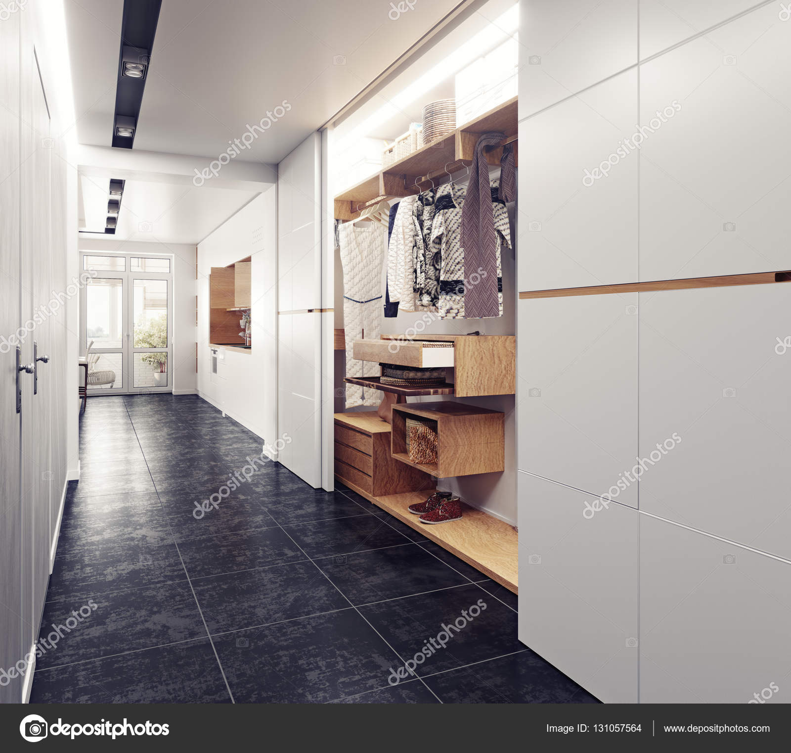 Flur moderne Interieur — Stockfoto © vicnt2815 #131057564