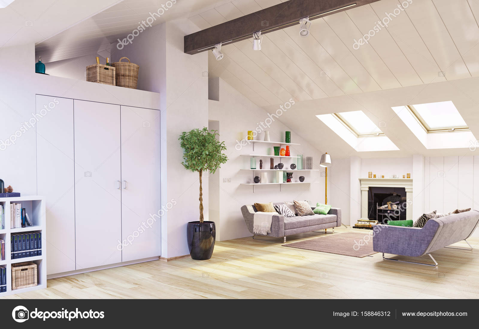 Conception De L Etage Attique Photographie Vicnt2815 C 158846312