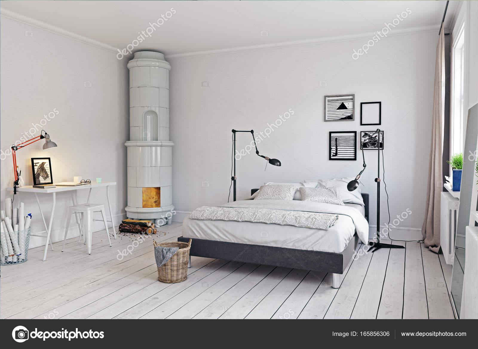 moderne Schlafzimmer-Interieur — Stockfoto © vicnt2815 #165856306
