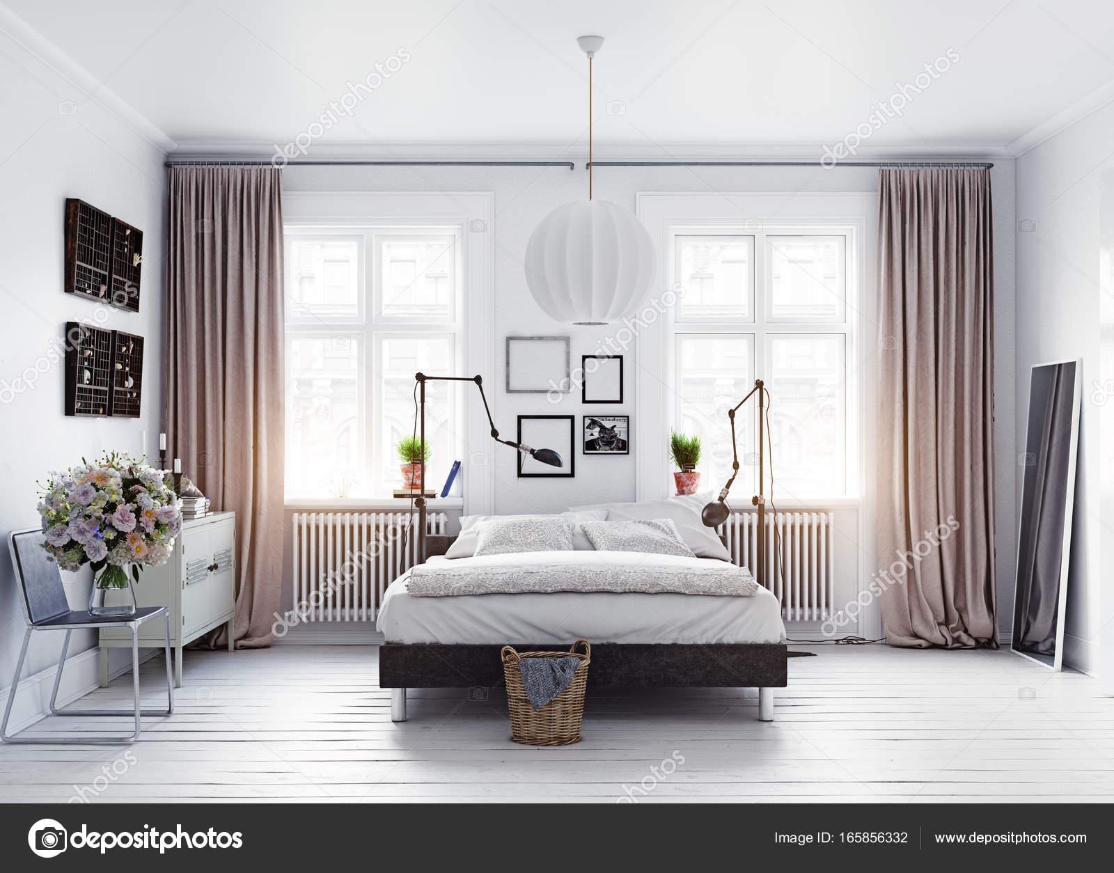 rendering di camera da letto moderna — Foto Stock © vicnt2815 #165856332
