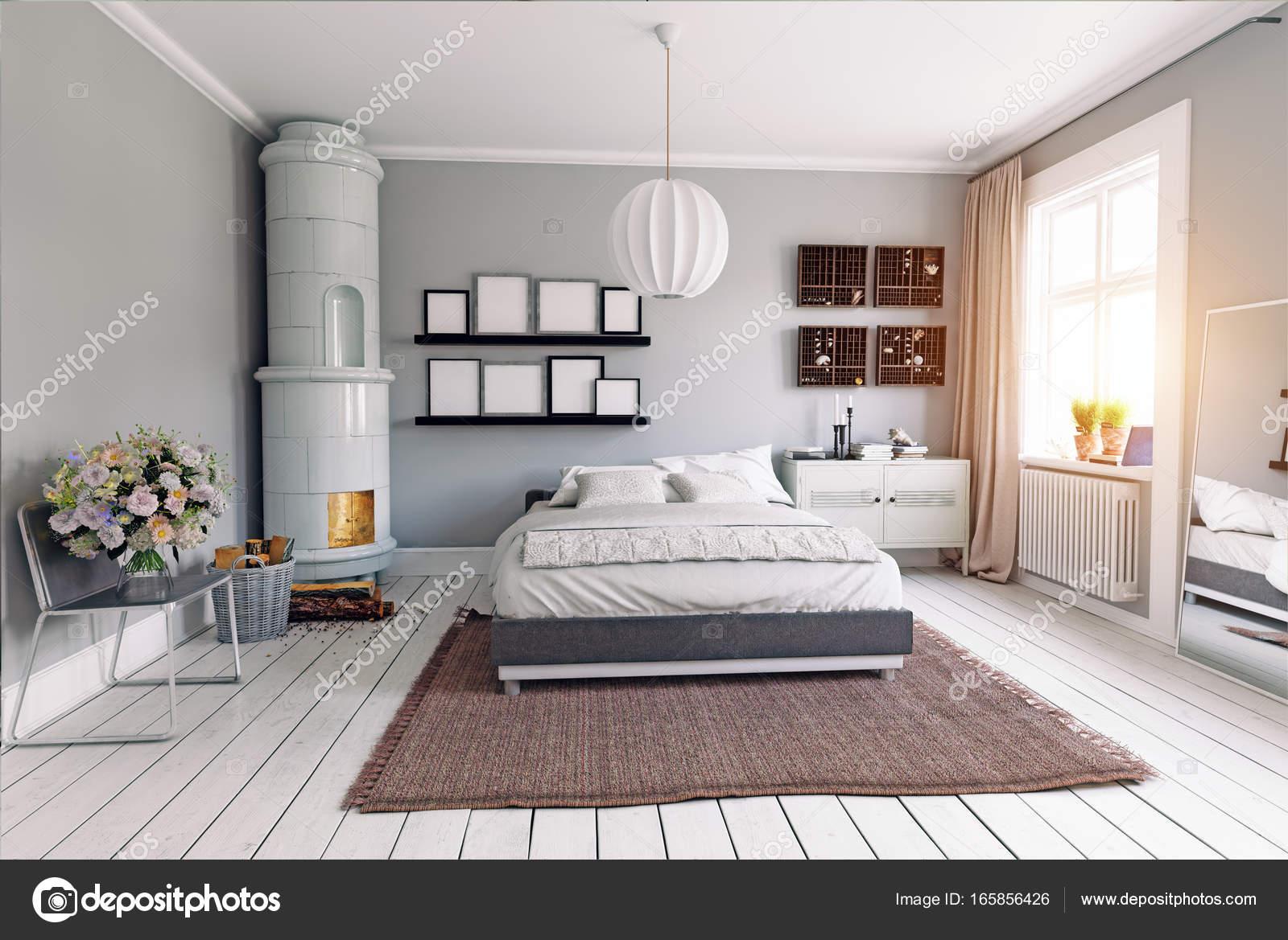 ModerneS Schlafzimmer-Interieur — Stockfoto © vicnt2815 ...
