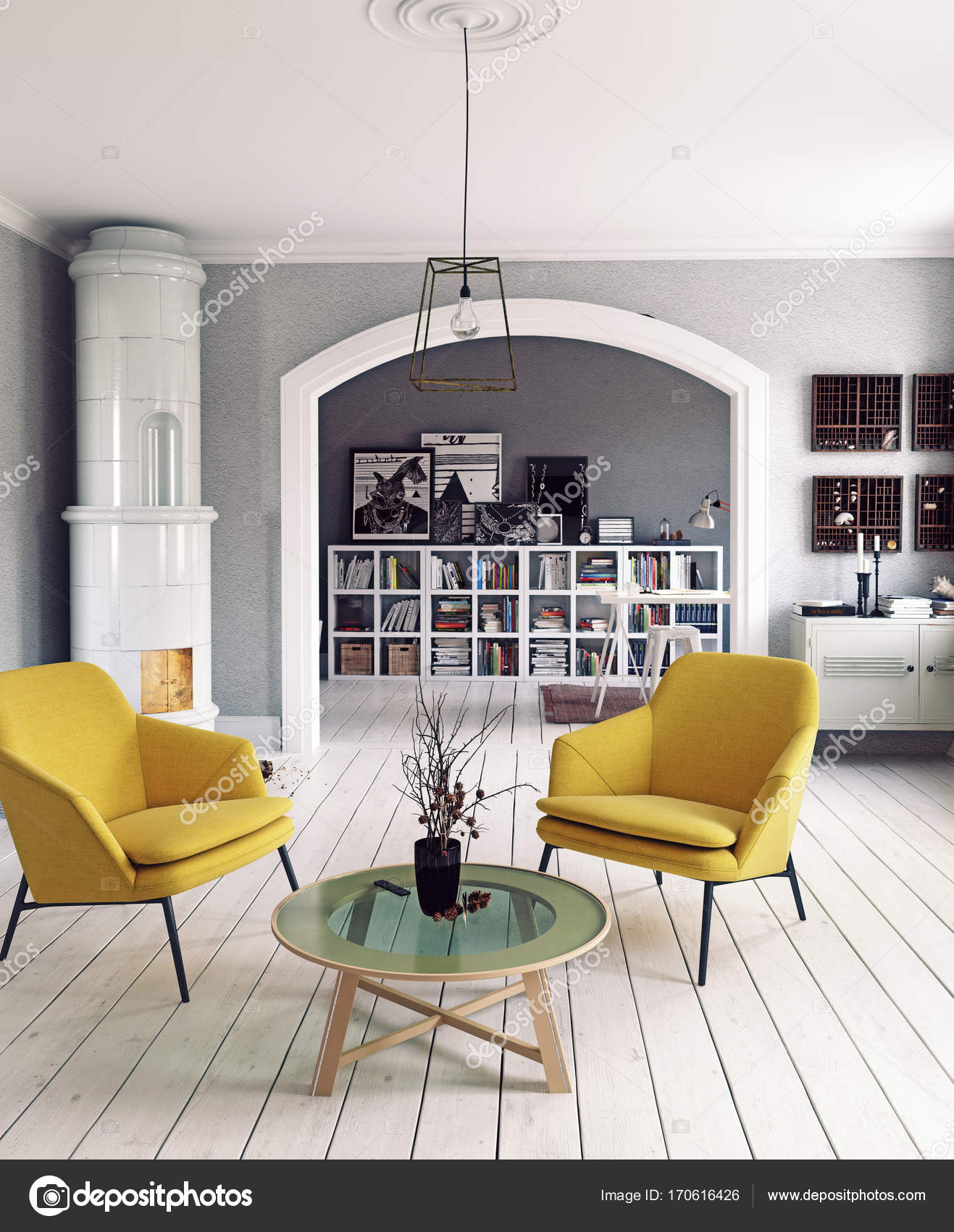Skandinavisches Design-Interieur — Stockfoto © vicnt2815 #170616426