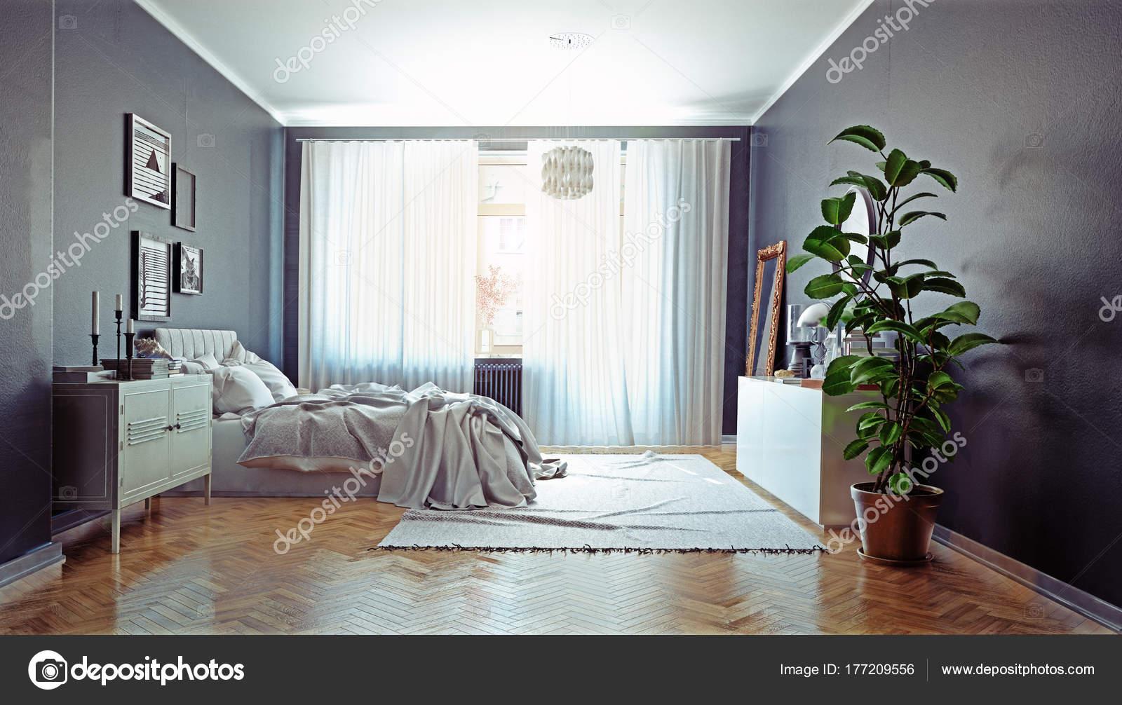 Intérieur Chambre Coucher Moderne Style Design Scandinave ...
