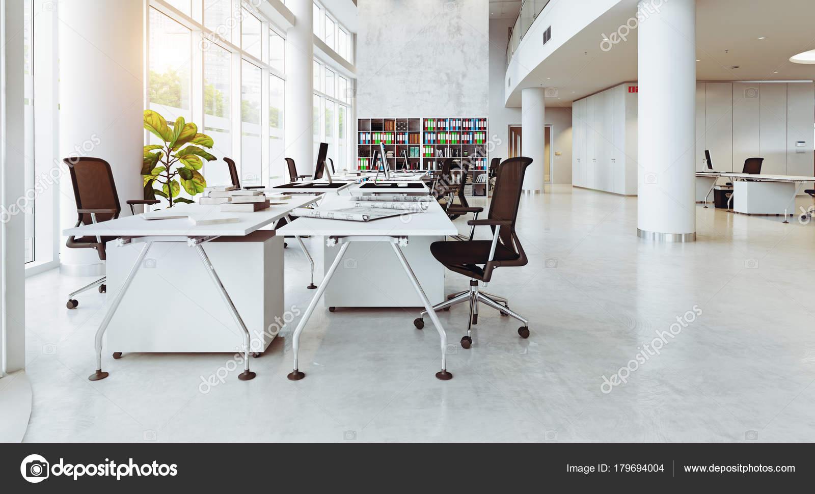 Intérieur bâtiment bureaux modernes concept rendu u2014 photographie
