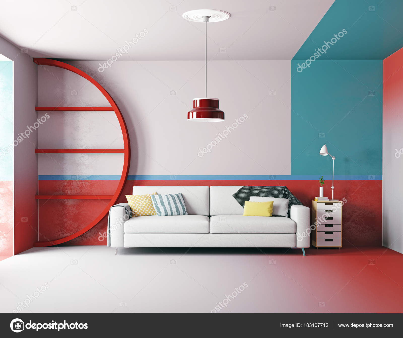 Modernes Farbenfrohes Design Zimmer Stil — Stockfoto © vicnt2815 ...