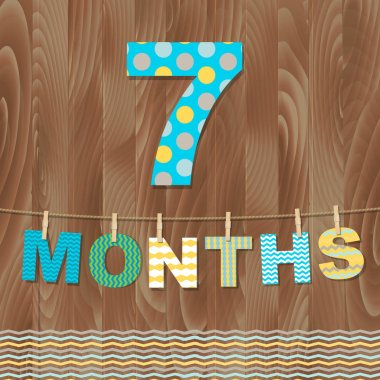 Card 7 Months  Illustration