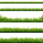 Zöld fű szegélyek