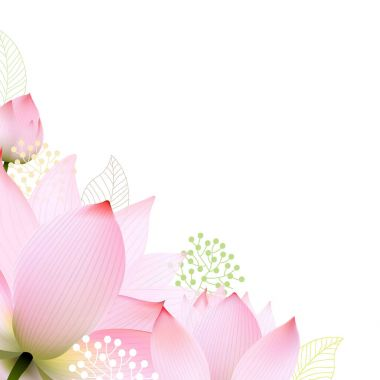 Floral Border With Lotus