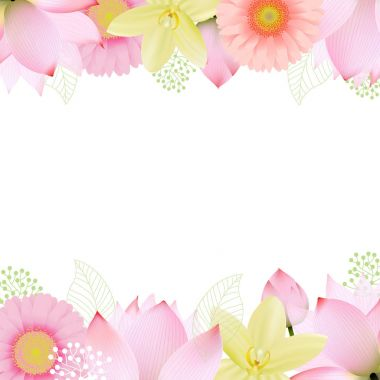 Flowers Border with copyspace for text
