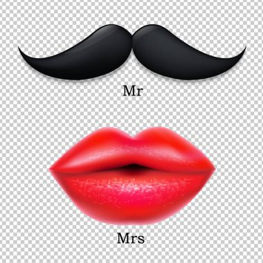 Moustaches With Lips Icons