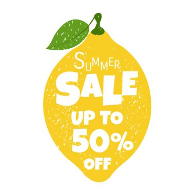 Summer Sale Poster With Lemon