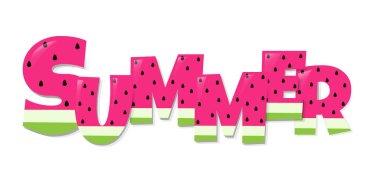 Summer Watermelon Text