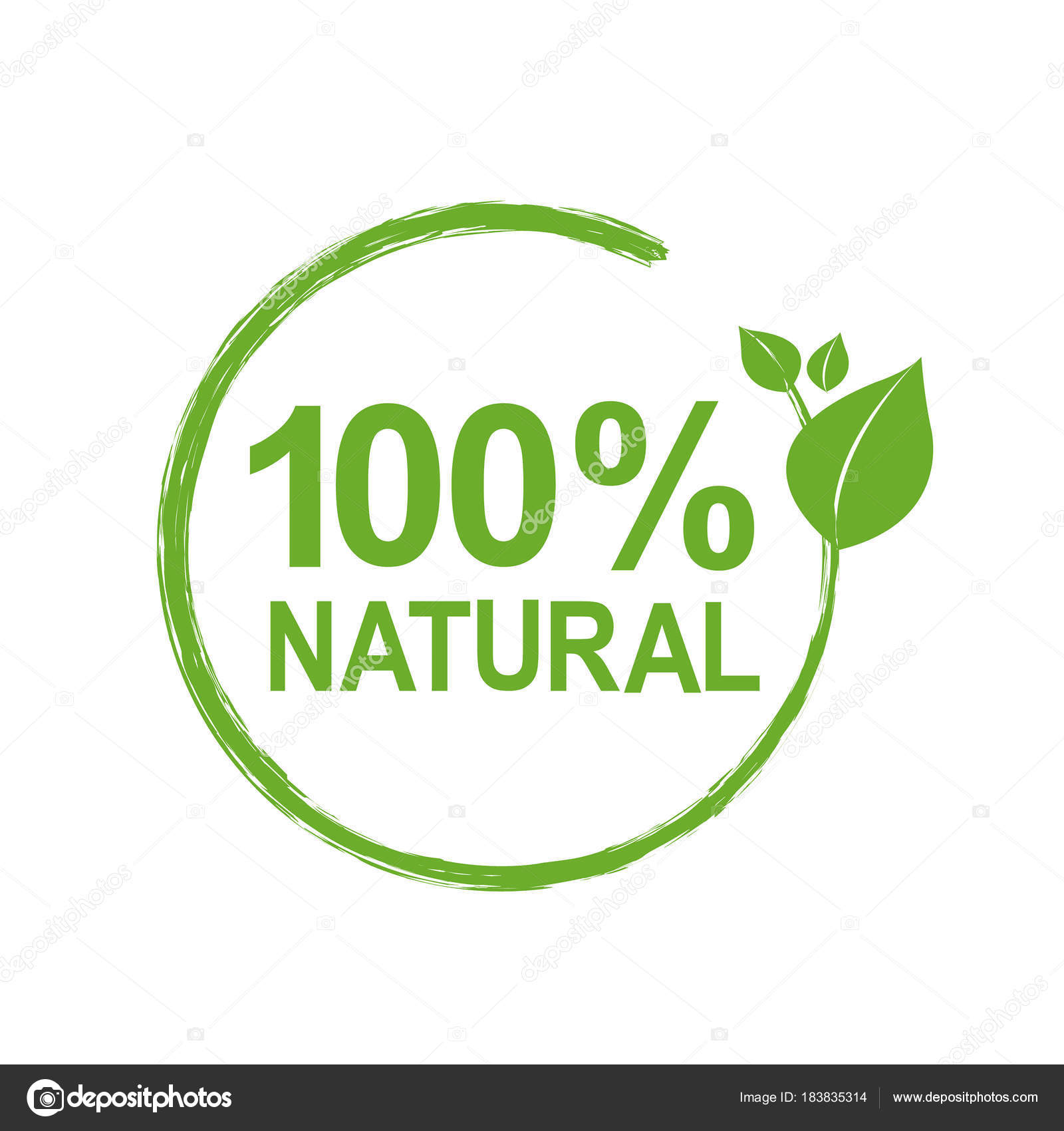 100 natural logo symbol vector illustration stock vector adamson 100 natural logo symbol vector illustration stock vector buycottarizona Image collections