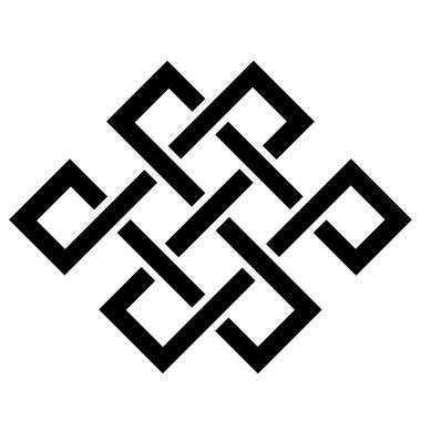 Simple design element. Celtic knot. Node happiness.