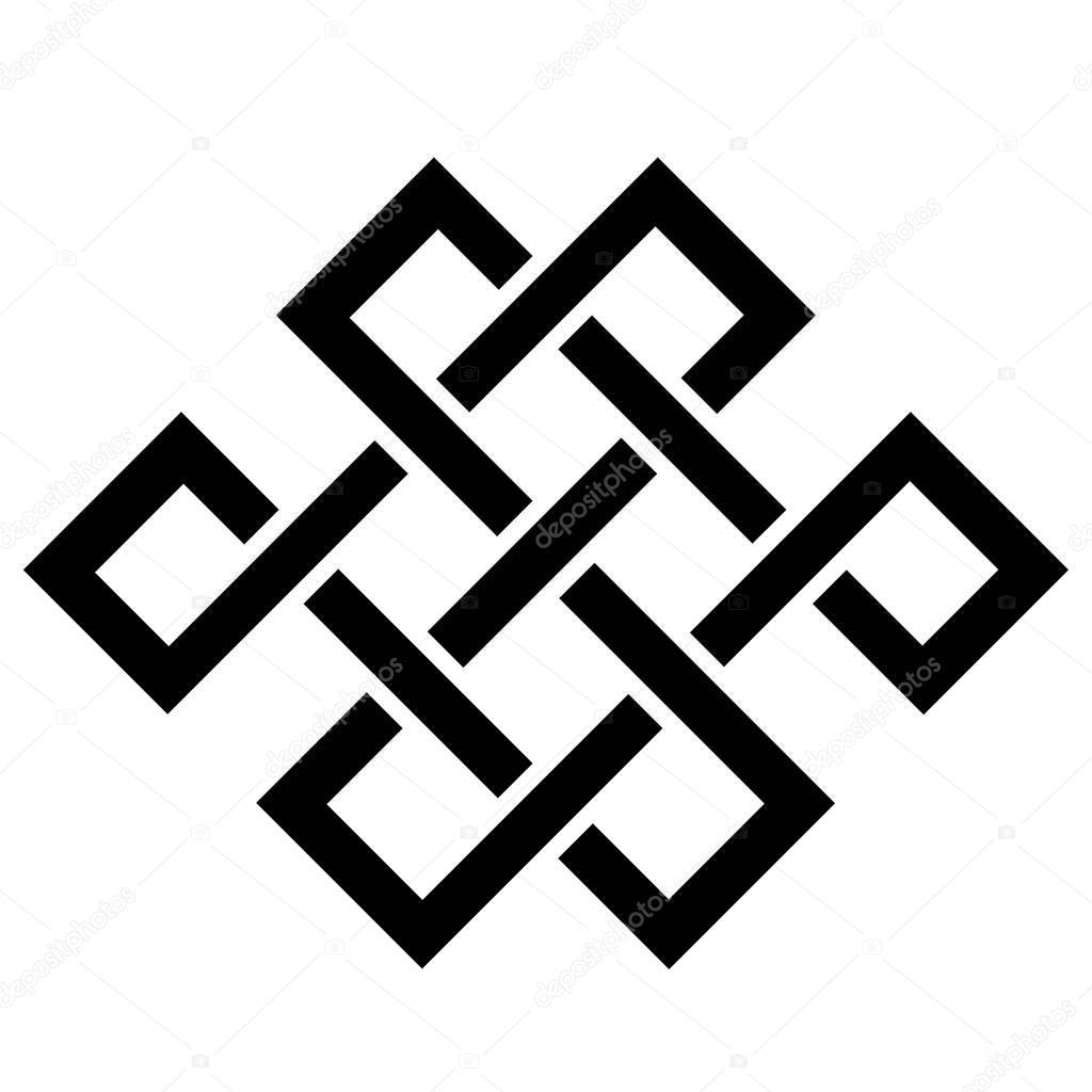 Simple design element. Celtic knot. Node happiness.