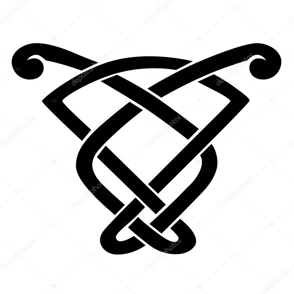 Celtic knot stencils for tattoo or another design  Vector  — Stock