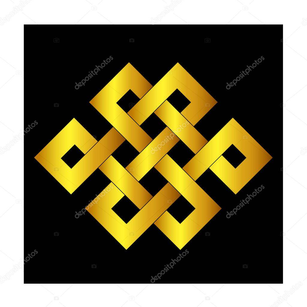 Noeud celtique stencils pour tatouage ou une autre conception. Vector —  Vecteur par 1rudvi