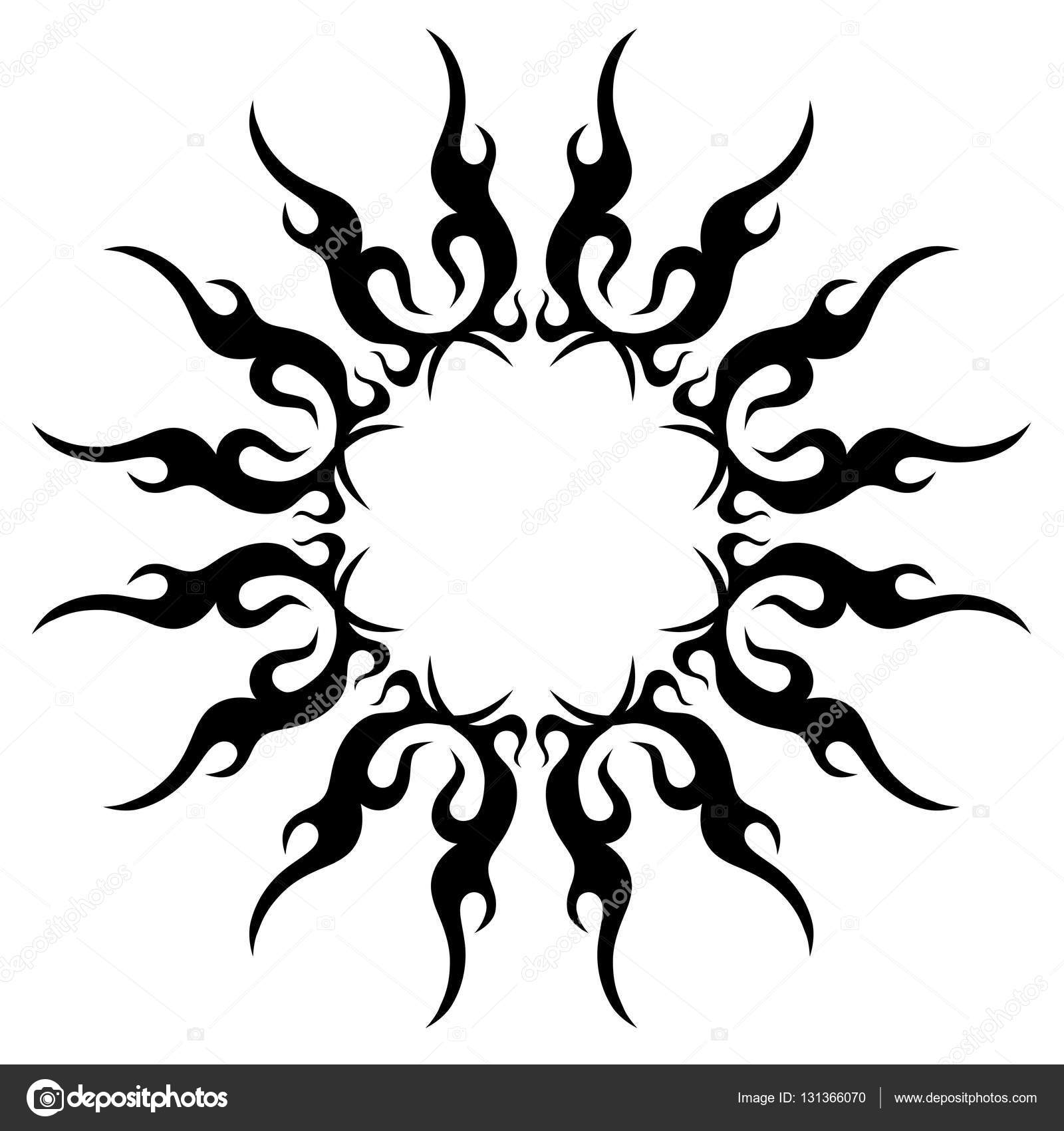 Tribal mandala tattoo designs. Vector sketch of a tattoo. — Stock ...