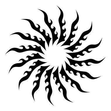 Tattoo tribal design vector abstract shape.Tattoo tribal mandala designs.
