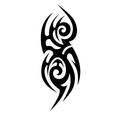 Tribal tattoos design element.