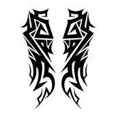Elemento di disegno di tatuaggi tribali