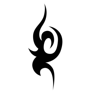 Tribal tattoos design element.