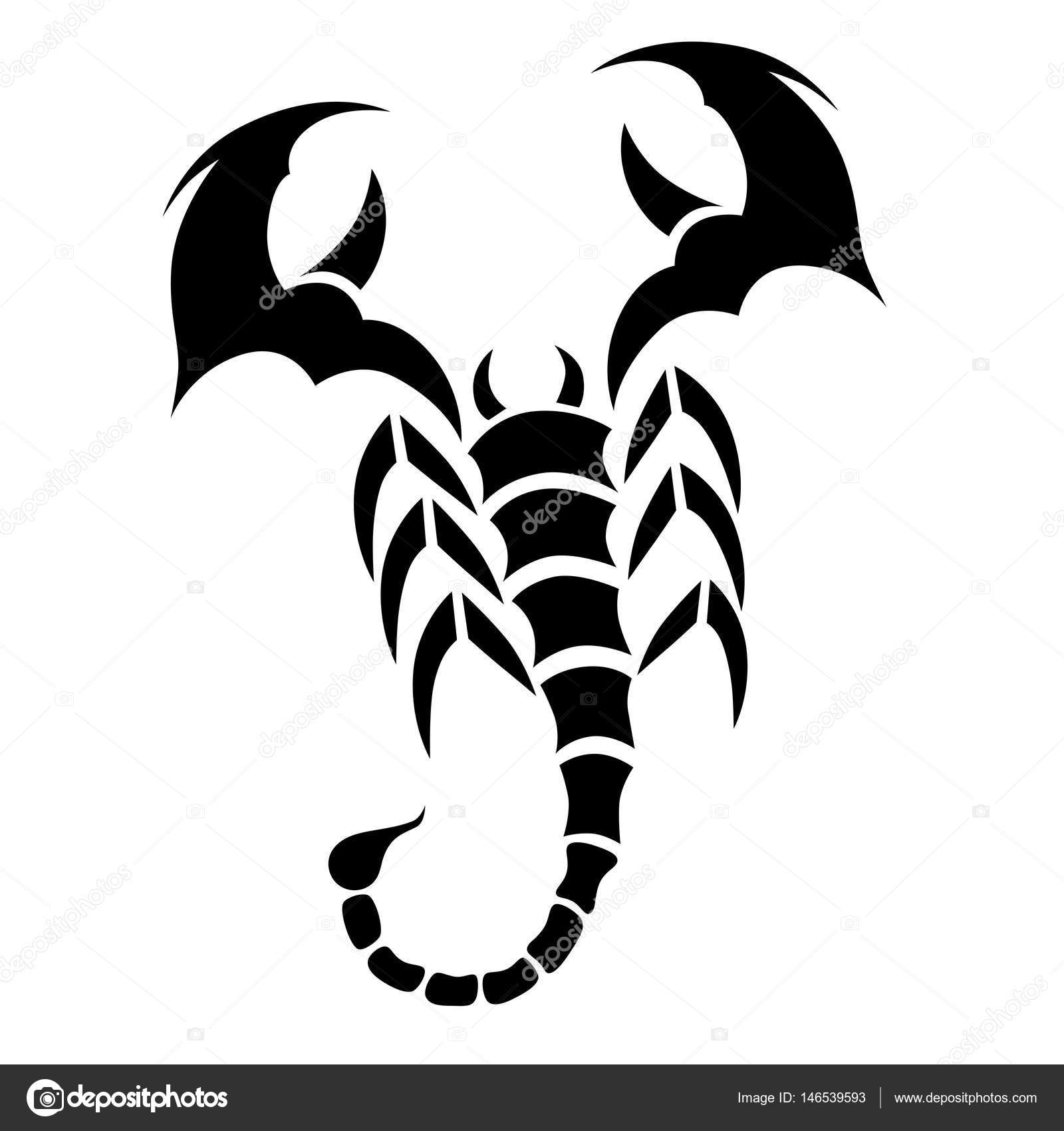 Tattoo Tribal Scorpion Stock Vector C 1rudvi 146539593